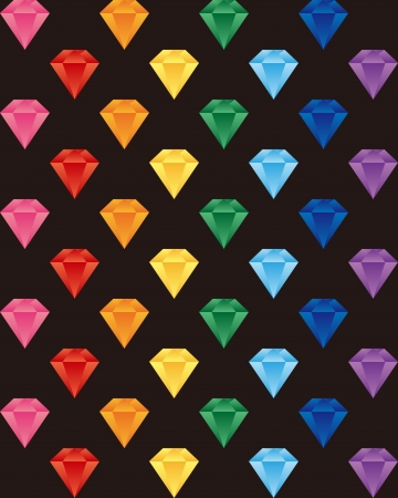Diamonds have a variety of colors Stock Vector - 20752248