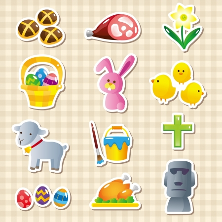 A variety of Easter materials Illustration