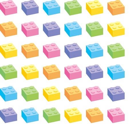 Building blocks has a variety of colors