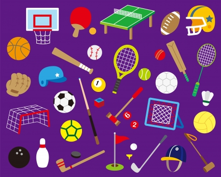 A variety of ball sports