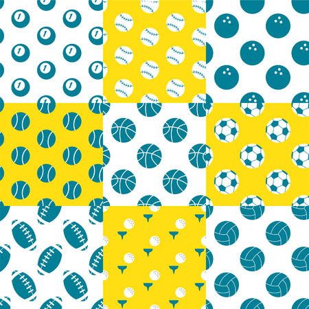 A variety of balls pattern Illustration