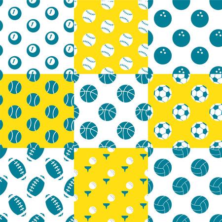 A variety of balls pattern Illustration