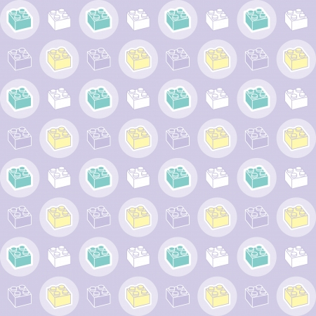 A variety of Child toy brick pattern  Illustration