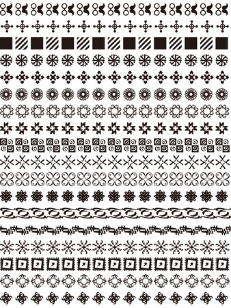 A variety of geometric lace