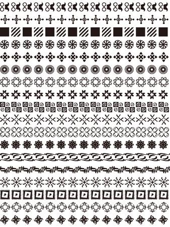 Una variedad de encajes geométricos Foto de archivo - 24900156