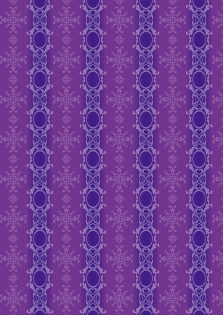 A variety of purple decorative pattern  Illustration