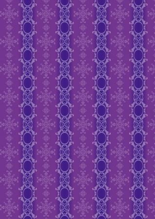 A variety of purple decorative pattern  Illustration