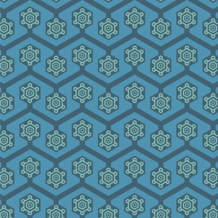 A variety of Snowflake Retro pattern  Illustration