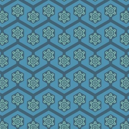 A variety of Snowflake Retro pattern  Illustration