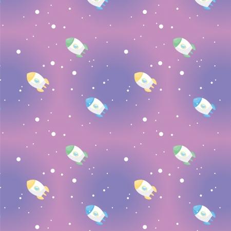 A variety of space Rocket pattern   Illustration