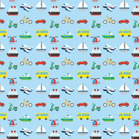 A variety of Vehicle pattern Vector