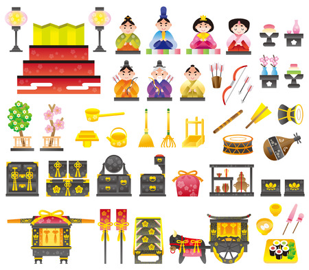 The design of the Doll Festival Illustration