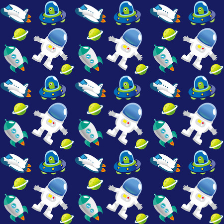 A variety of outer space pattern