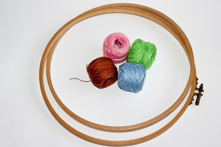 purls: embroidery, PURLs and circles Stock Photo