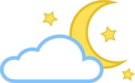 moon icon vector star cloud