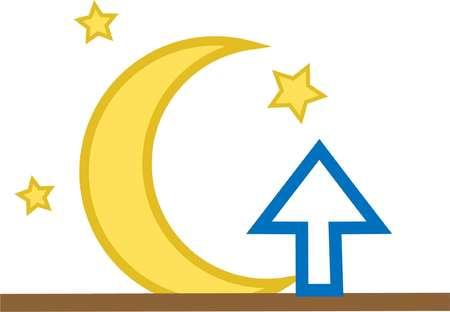 moonrise icon vector element weather