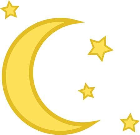 moon icon vector star Vectores