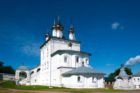 Holy Trinity Monastery of St. Nicholas on Puzhalova mountain in Gorokhovets in summer, Gorokhovets, Russia