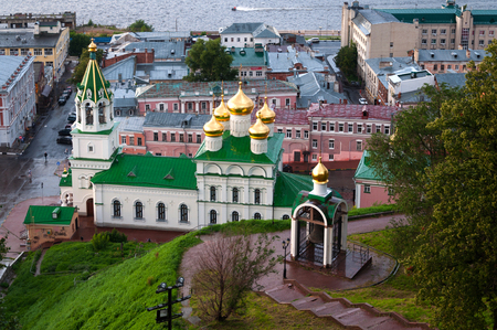 View of Church of the Nativity of John the Precursor in Nizhny Novgorod. Russia