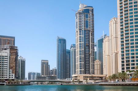 DUBAI, UAE - MAY 5,2017: Modern buildings in Dubai Marina on may 5, 2017, Dubai, UAE.