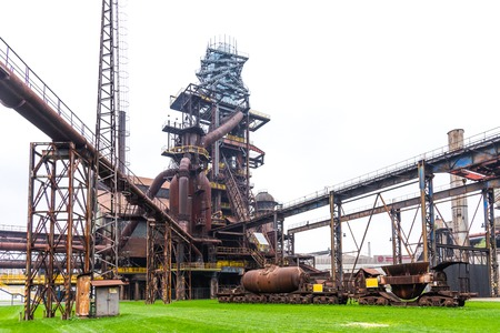 Bolt Tower and the blast furnace in Vitkovice in Ostrava, Czech Republic