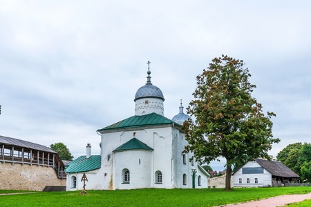 Ancient orthodox church of St. Nicholas in the Izborsk fortress. Izborsk, Pskov region, Russia.