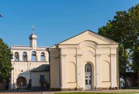 The belfry of St. Sophia Cathedral in the Novgorod Kremlin, Russia
