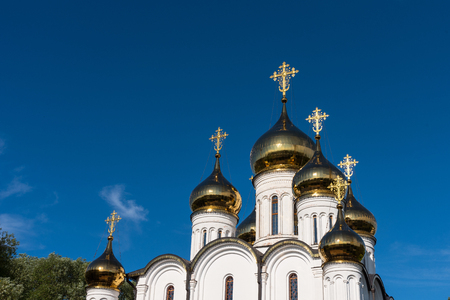 Cathedral of St. Nicholas in The Nikolsky Women s Monastery in Pereslavl Zalessky in the Yaroslavl Region in Russia. Golden Ring of Russia . Stockfoto