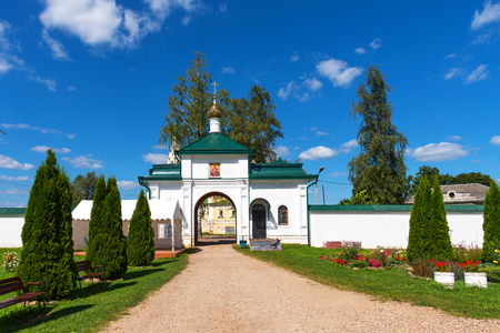 Resurrection monastery in Uglich. Golden Ring of Russia. Voskresensky monastery on summer day. Uglich, Yaroslavl region, , Russia.