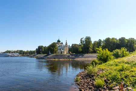The Transfiguration Cathedral (Preobrazhensky sobor) of the Kremlin in Uglich, Russia. Golden Ring of Russia .