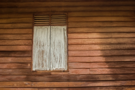 The Wood windows and The wood siding. Stock Photo - 19014958