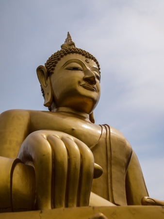The Buddha statue in thailand. photo