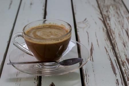 The Dark wood coffee table top photo