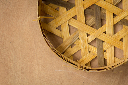 webbed: Wickerwork, baskets, fish, wood, wicker, bamboo. Stock Photo