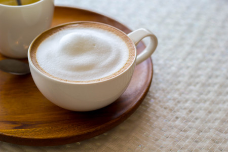 cappuccino cup: cappuccino in a white cup