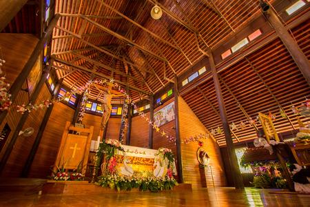 built in: Church of Jesus beautiful tree. Built in Thailand