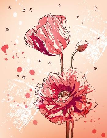 Fond floral Banque d'images - 9995677
