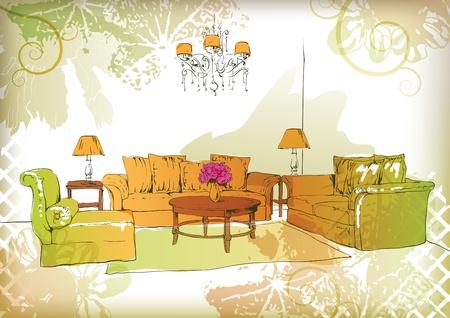 living room Stock Vector - 9995678