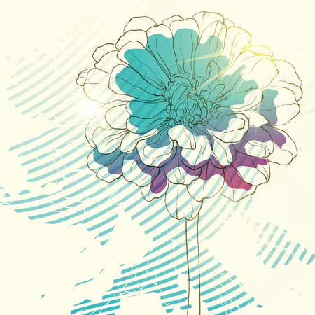 accent abstract: floral background