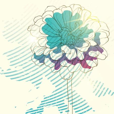 Fond floral Banque d'images - 10541523