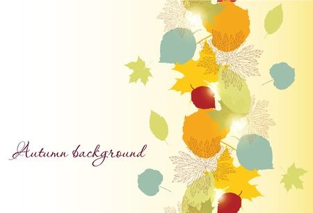 シームレスな秋を葉します。