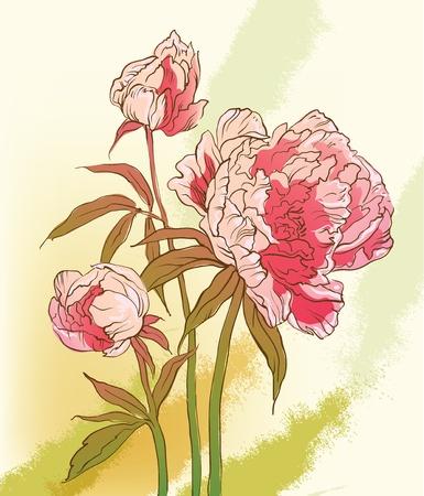 Fond floral Banque d'images - 10554261