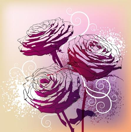 Fond floral Banque d'images - 10569177