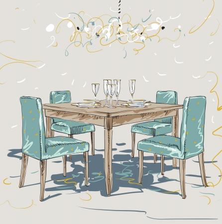 Living Room Иллюстрация