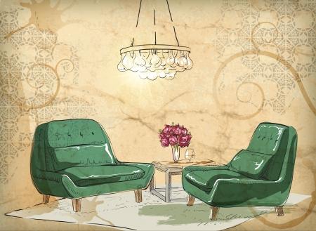 Living room Stock Vector - 18320244