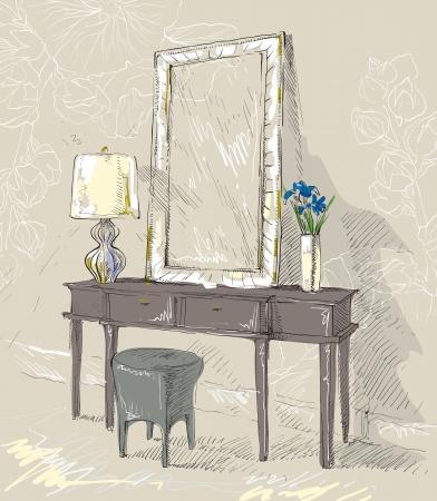 手描きのインテリアの詳細
