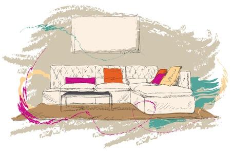 Living room Stock Vector - 18320250