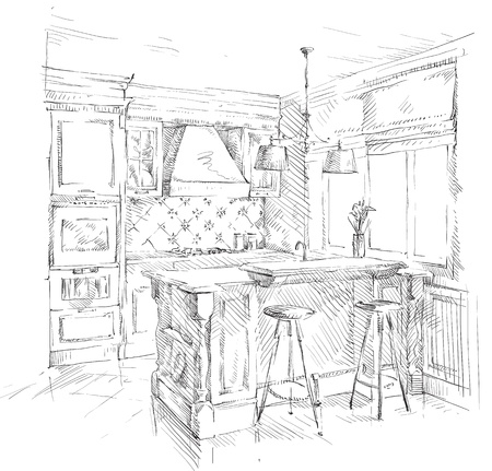 Hand drawing details of the interior Stock Vector - 18320243