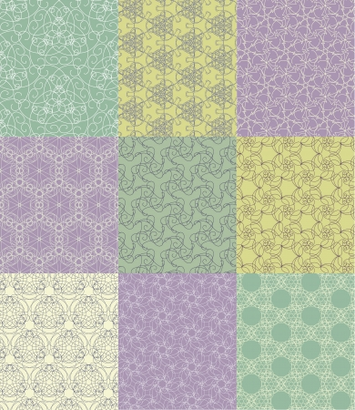 scrap booking: set of seamless patterns