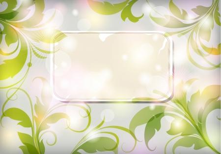 Vector floral elements Illustration